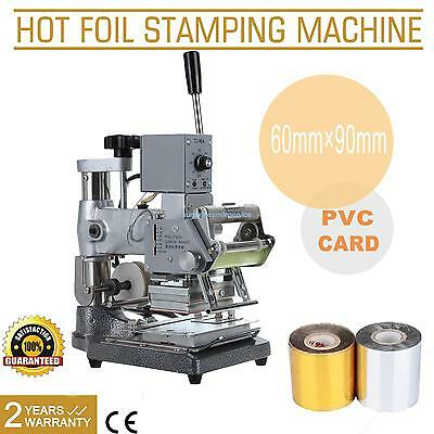 Hot Foil Stamping Tipper Stamper Bronzing Machine PVC Card Leather w/ Foil Paper