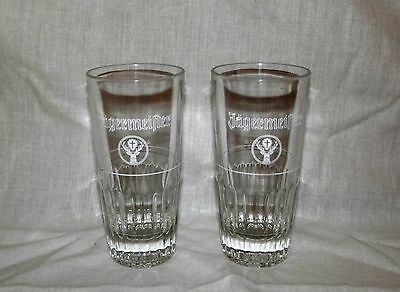 2 Rare Large Traditional Jagermeister Shot Glasses