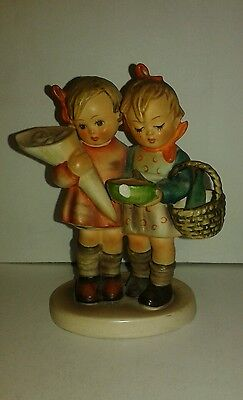 Going to Grandma's Goebel Hummel Figurine TMK-3 #52/0 (Chip on Bowl)