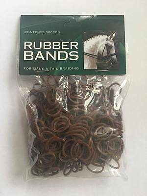 Rubber Bands For Horse Mane & Tail Braiding - Black, Brown, Chestnut or White