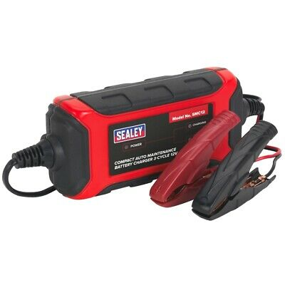 Sealey Battery Charger Compact Auto Maintenance - 3-Cycle 12V - SMC12