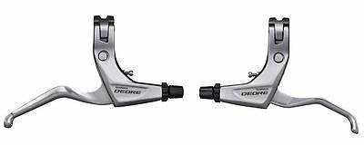 Shimano Deore V Brake MTB Bike 2 Finger Levers BL-T610 Pair in SILVER