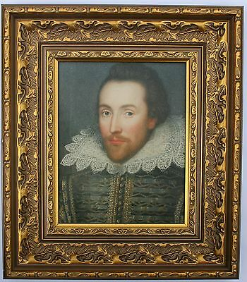 William Shakespeare  Framed Oleograph  R561#E  Reproduction Picture,  Poet
