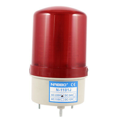 Industrial electric 105-110dB Lichthupe AC 220 V LED-Blinker rot