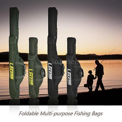 1M/1.5M Foldable Fishing Rod Bags Zipped Case Tackle Storage Pouch Holder G9E8