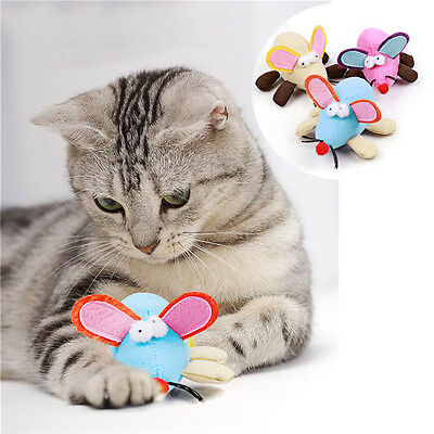Pet Dog Cat Plush Big Ear Shakable Mouse Toy Kitten Interactive Play Fun Toy