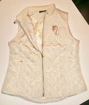 Equestrian Quilted Vest - Beige
