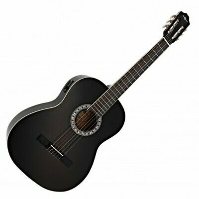 Classical Electro Acoustic Guitar Black by Gear4music