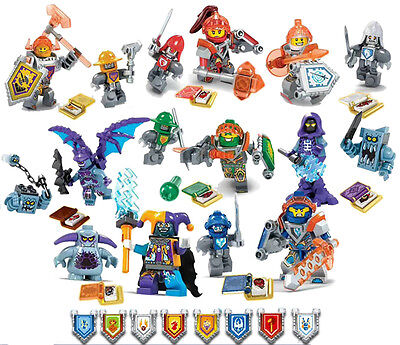 16SET Building Block toys  Mini Figures NEXO KNIGHTS Magic Book Assemble