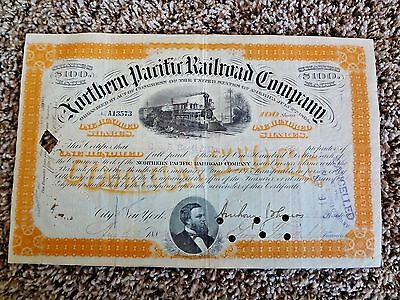 Northern Pacific Railroad Stock Certificate