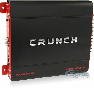 Crunch PX20001D 2000W Monoblock Power X Series Class D Car Amplifier w/ Remote