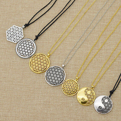 Supernatural Flower of Life Pendant Necklace Mandala Sacred Geometry Jewelry