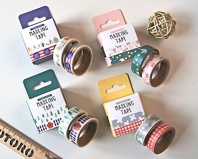 Washi Tape | Masking Tape | Deko Klebeband, «Norwegian Wood», 15mm x 5m 2er Pck.