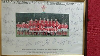 Wales Rugby Union 2005 signed Reproduction 6 Nations & Grand Slam winning team.