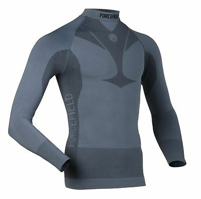 NEW Forcefield Body Armour Men's Base Layer Long Sleeve Shirt Grey 2XL XXL
