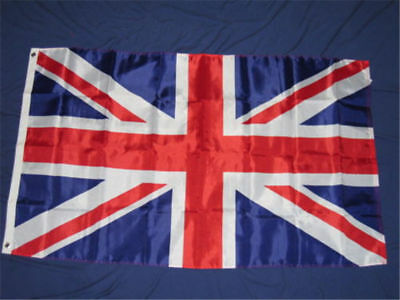 3x5FT Large Union Jack Flag GB Great British Sport Queens Flags