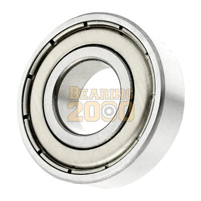 Lot of 2 6207-ZZ  Ball Bearing 35mm x 72mm x 17mm Double Shielded Metal Seal NEW