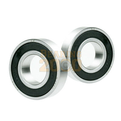 2x 6208-2RS Ball Bearing 40mm x 80mm x 18mm Rubber Sealed Premium RS 2RS QJZ