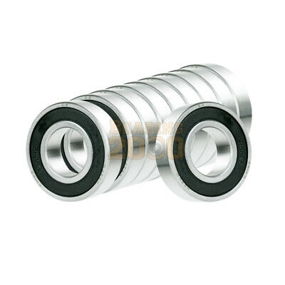 10x Ball Bearing 12mm x 21mm x 5mm Rubber Seal Premium RS  Shielded 6801-2RS