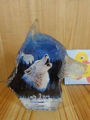 Wolf Figurine MIDNIGHT CALL The Spirit Within Collection Robin Koni 2001 Acrylic
