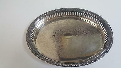 Vintage Leonard Silverplate Classic Oval Shaped Dish Platter Silver Serving Tray