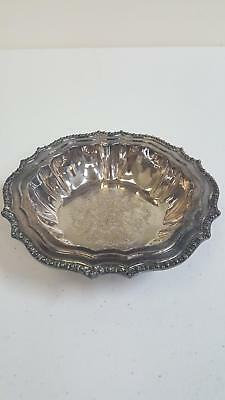 Vintage Avon Hudson Manor Silver Plated Small Serving Candy Dish Bowl From Italy