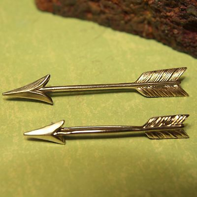 Vintage Lot 2 Arrows Symmetalic 1/20 14K GF & Sterling Silver 925 Brooch - 5.1g