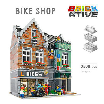 Lego Custom Modular Building ** BIKE SHOP ** INSTRUCTIONS ONLY! instruction