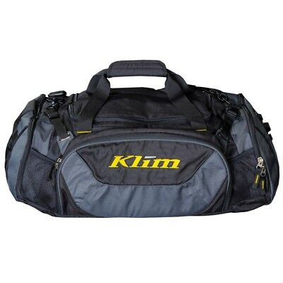Klim Snowmobile Mountain Weekend Travel Gear Bag Duffle Bag - Black & Gray