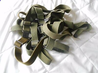 WW2 US GI M-1 Garand khaki canvas cotton duck olive drab sling w buckle & clip