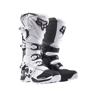 Fox 2017 Comp 5 Mx Motocross Boots White Black