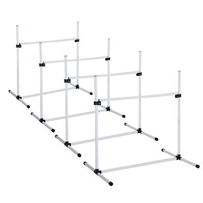 PawHut Canine Agility Set Dog High Jump Training Exercise Obstacles Set