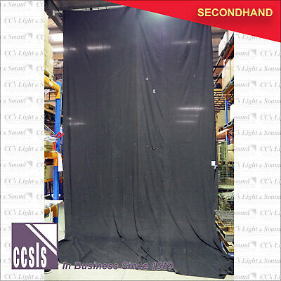 8m x 4m Black Cotton Drape - no fixings