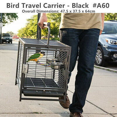 NEW Large Parrot Canary Bird Flight Cage Aviary & Castor Stand (# Model D)