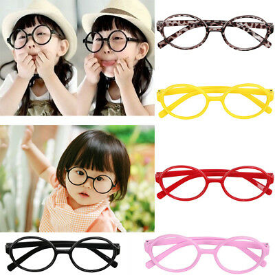 Black Cute Round Glasses Spectacle Frames No Lens For Children Kids Baby Boy