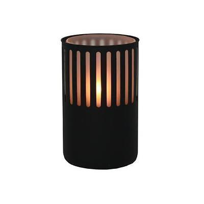 10x Oil Table Lamp / Light 'Leo - Black' Restaurant / Cafe - Safer than a Candle