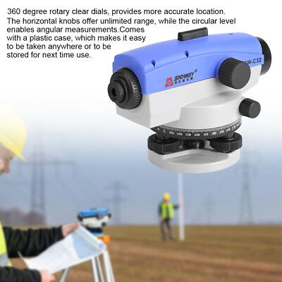32X Optical Level Self-Leveling Tool Accuracy Self Level Rotating Rotary+Case HG