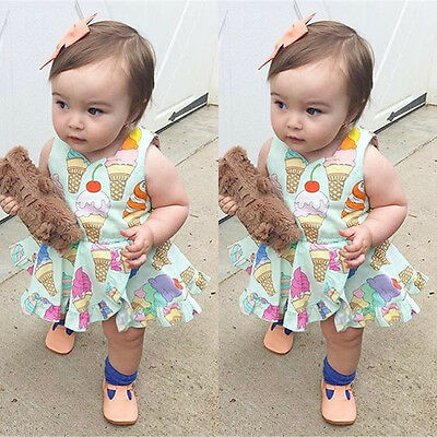 AU Stock Newborn Baby Girls Floral Romper Dress Jumpsuit Playsuit Summer Outfits