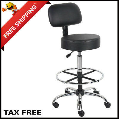 Adjustable Swivel Pub Office Stools Leather Swivel Pub Chair  Gas Lift Leather