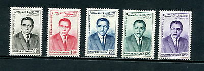 Morocco  1962  #C5-9  King Hassan II  airmails  5v.  MVLH  E315
