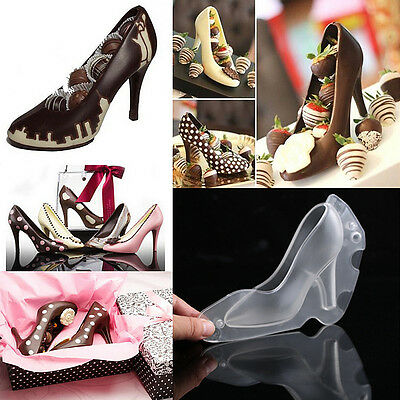3D High Heel Shoe Chocolate Candy Cake Decorating Mould Jelly Ice Silikonform