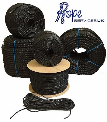 Black Poly Rope Coils, Polyrope, Polypropylene, Polyprop,Agriculture, Tarpaulins
