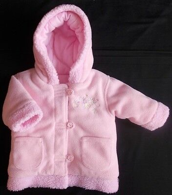 George baby girl coat hooded pink padded winter 3-6 month