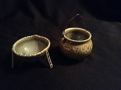 Vintage Irish Porcelain Small Dish and Coldron - Made in Ireland