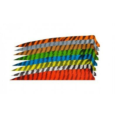 "Gateway Archery Feathers - Right Wing - 4"" Shield - Variety of Colours (Qty 12)"