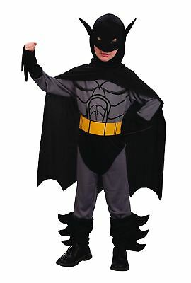 Childrens Scary Halloween Bat Costume Kids Comic Hero Fancy Novelty Dress Outfit