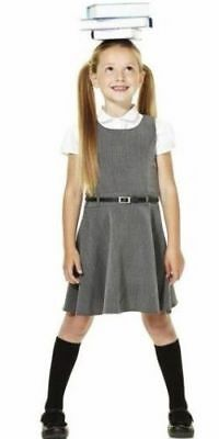 New Girls Ex F&f Grey Belted School Dress Pinafore Uniform Sizes 3 - 11 Years