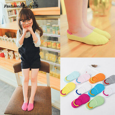 Grils Kids Cotton Ankle Socks Cute Candy Color Invisible Short Socks Toddler