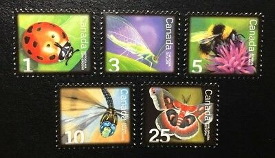 Canada #2234-2238 MNH, Beneficial Insects Low Value Set of Stamps 2007