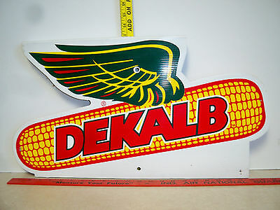 Dekalb Seed Corn Winged Ear Plastic Coated Cardboard Double Sided Sign
